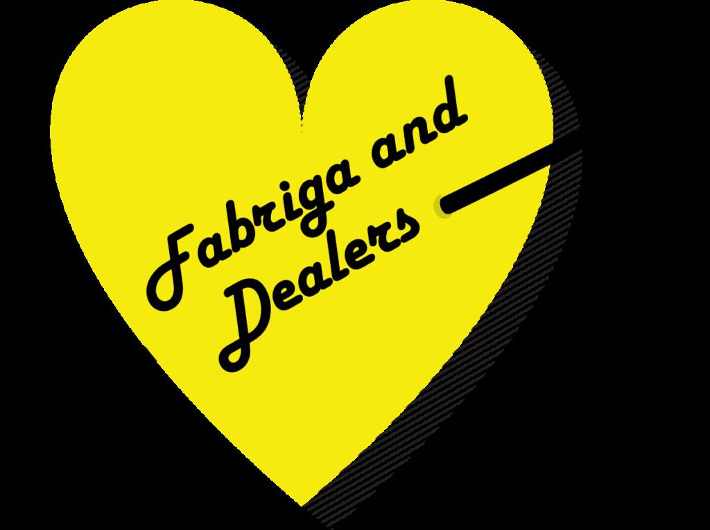 Fabriga Loves Dealers Yellow heart